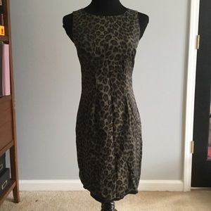 Ann Taylor petite animal print dress